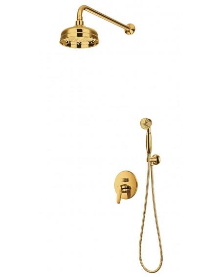 Zlatý sprchový podomítkový set baterie vintage Art Retro