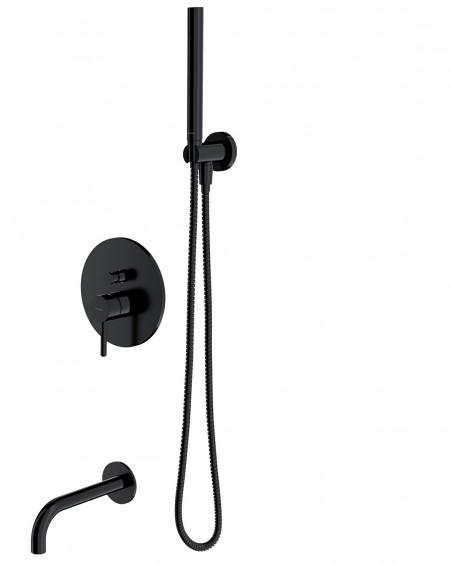 Černá matná sprchový systém Sys 01BL