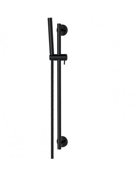 Černá matná sprchová hlavice a sposuvným držákem SYS SBL
