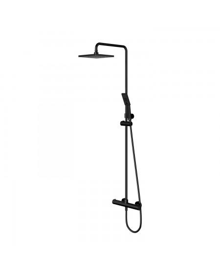 Černá matná termostatický sprchový systém ze sprchou Y 44BL