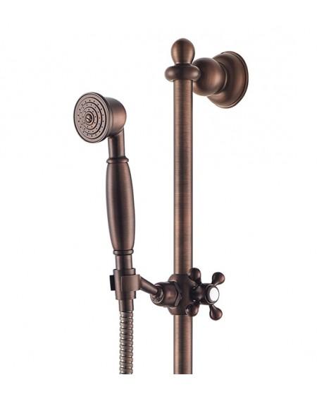 Vodovodní sprcha s posunou tyčí Art Deco starožitná měď