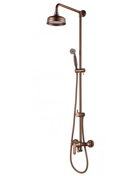 Vodovodní sprchový set Art Deco starožitná měď