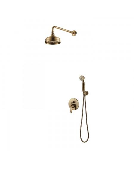 Vodovodní podomítkový sprchový set se sprchou Art Deco starožitná bronz