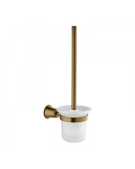 Z Koupelnové doplňky toaletní kartáč Art Deco starožitná bronz