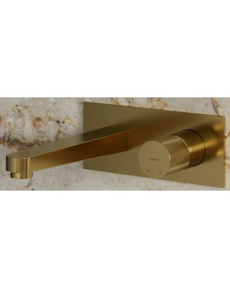 Zlatá polomatná vodovodní umyvadlová podomítková baterie Contour Gold