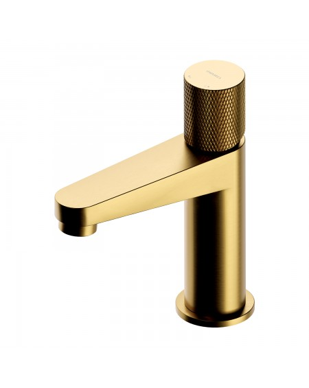 Zlatá polomatná vodovodní umyvadlová baterie Contour Gold