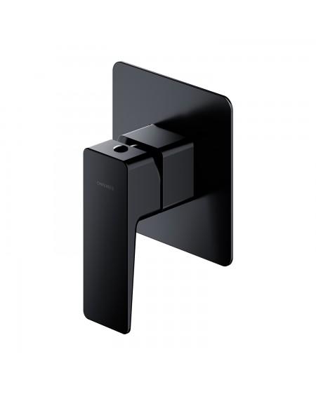Černá matná sprchová podomítková páková baterie Parma