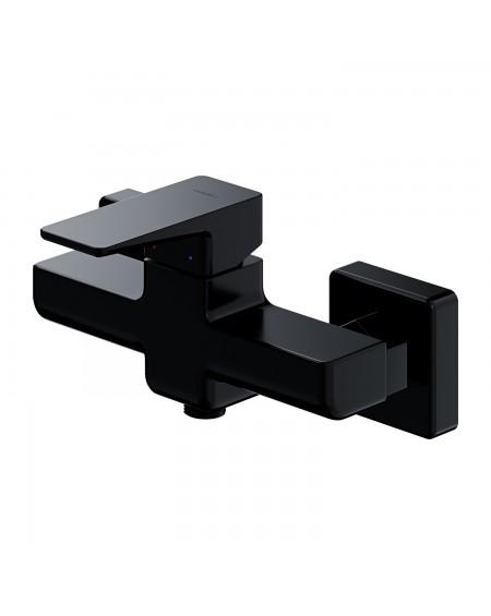 Černá matná vanová páková baterie Parma