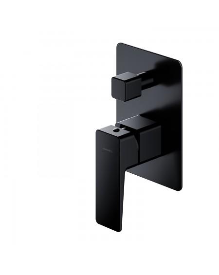 Černá matná sprchová podomítková baterie Parma