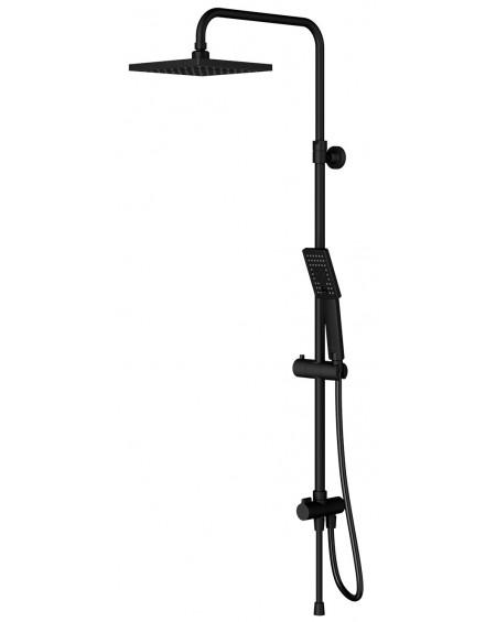 Černý matný nástěnný sprchový panel Parma