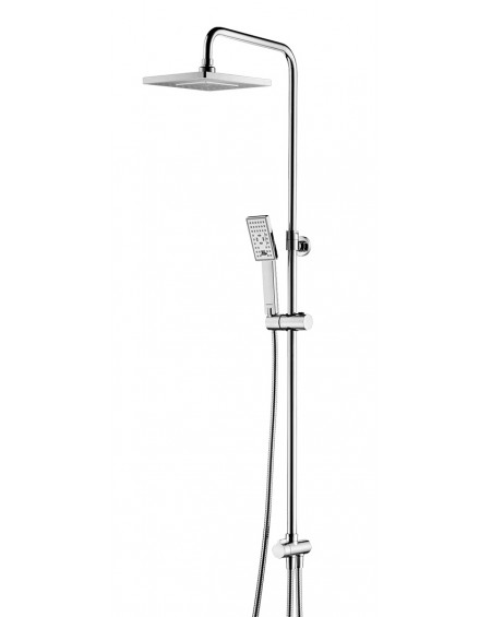 Chromový sprchový pákový nástěnný systém bez ovladače Parma