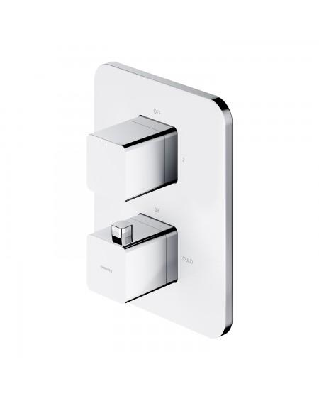 vodovodní termostatická podomítková baterie Parma bílá chrom