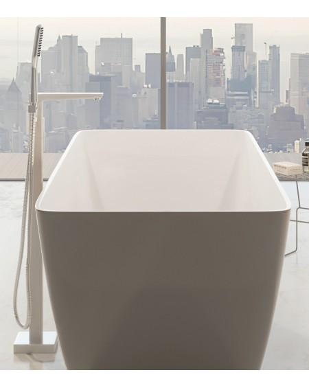 vodovodní samostatně stojící vanová baterie Parma bílá chrom