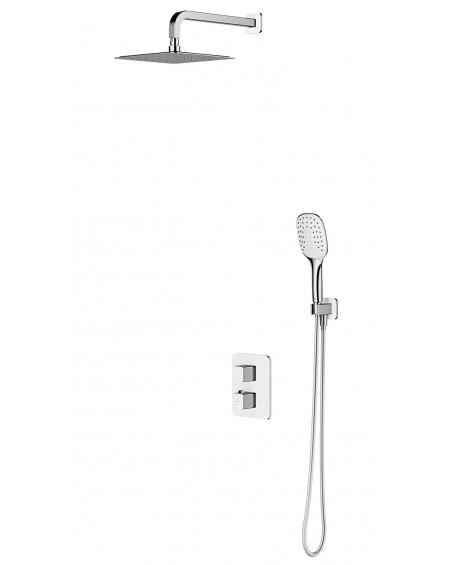 vodovodní termostatický sprchový podomítkový systém Parma bílá chrom