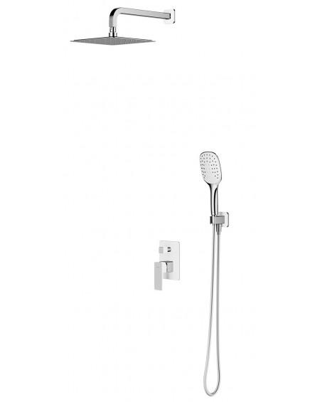 vodovodní sprchový podomítkový systém Parma bílá chrom