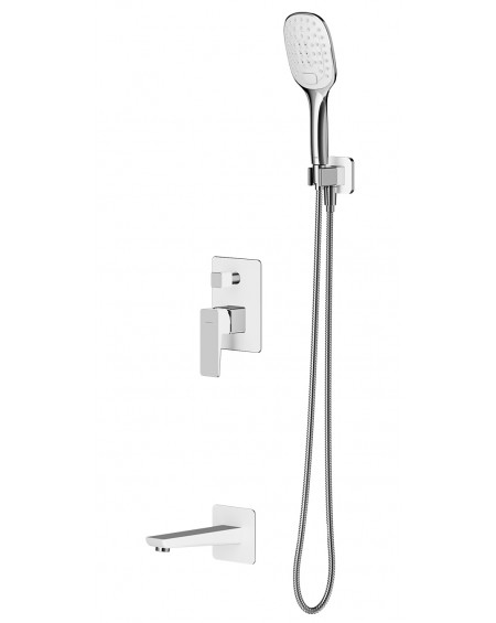 vodovodní sprchový vanový podomítkový systém Parma bílá chrom