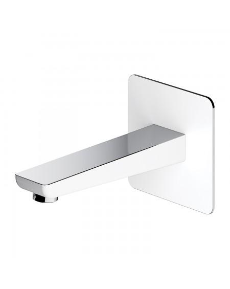 vodovodní vanová umyvadlová výlevka podomítková Parma bílá chrom