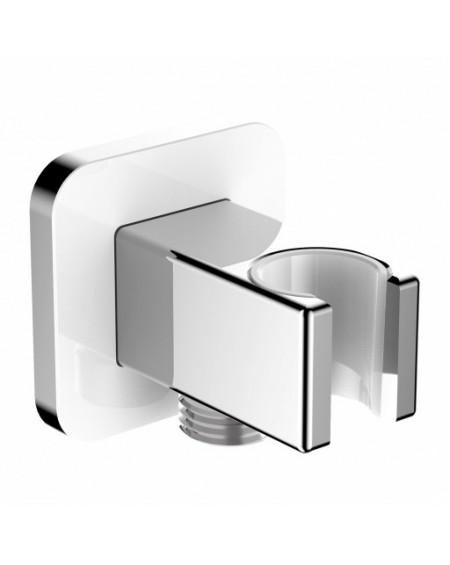 vodovodní vanová sprchová úchytka plus připojka Parma bílá chrom