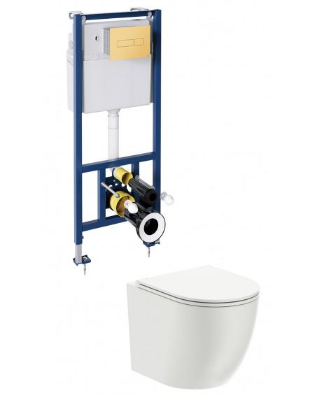 závěsná toaleta s podomítkovým modulem a ovladačm Gold Ottava