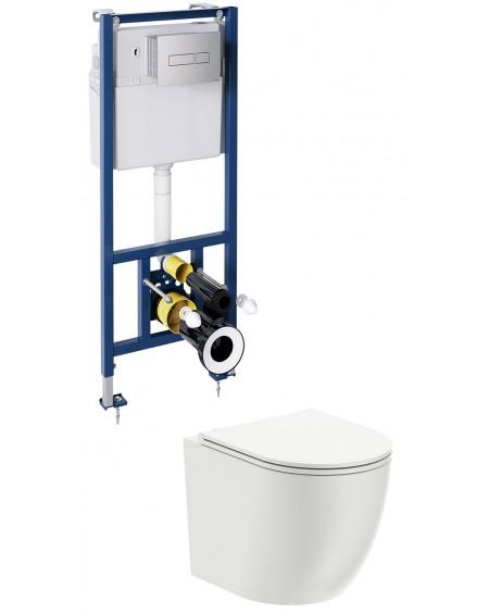 závěsná toaleta s podomítkovým modulem a ovladačm Chrom Ottava