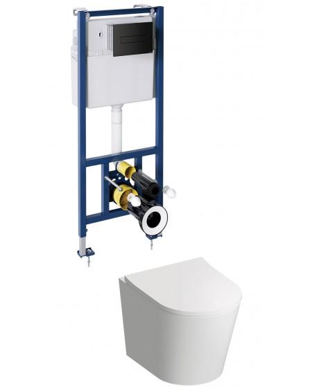 TAM závěsná toaleta s podomítkovým modulem a ovladačm Black Tampa