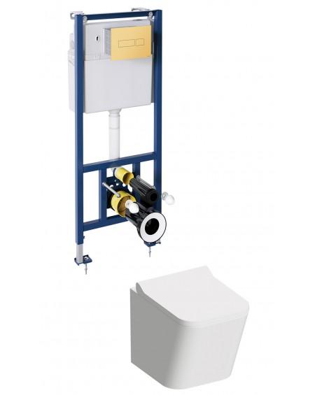 FON závěsná toaleta s podomítkovým modulem a ovladačm Gold Fontana