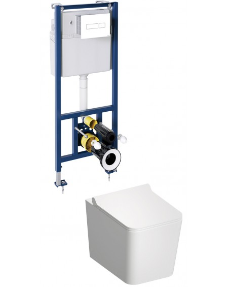 BOS závěsná toaleta s podomítkovým modulem a ovladačm White Boston