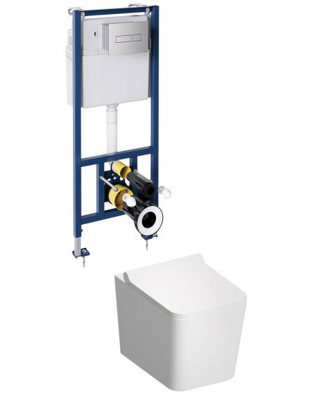 BOS závěsná toaleta s podomítkovým modulem a ovladačm Chrom Boston
