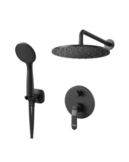 Černý matný sprchový podomítkový vodovodní set Concepcion Massi