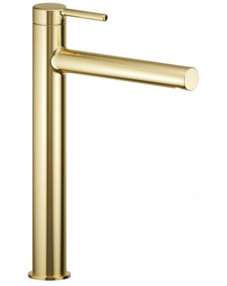 Zlatá umyvadlová stojánko vysoká 25 cm baterie PI Excellent