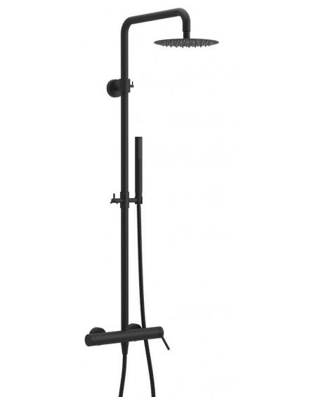 Černý matný sprchový nástěný set PI Excellent