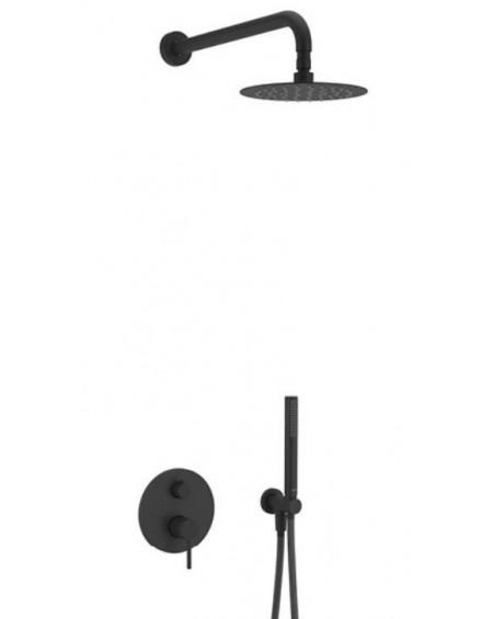 Černý matný sprchový podomítkový set PI Excellent