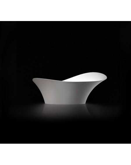 Umyvadlo na desku Alice II. 67x39x28cm bílý mramor mat Durocoat ® super white mate / brilo