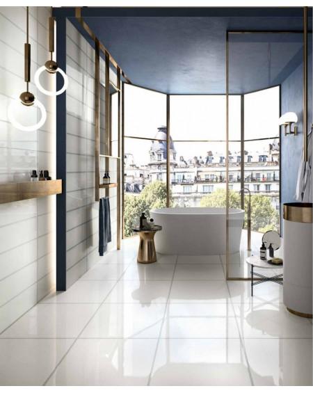 dlažba obklad imitace mléčného skla Veltri bianco 120x120 cm lesk výrobce Refin