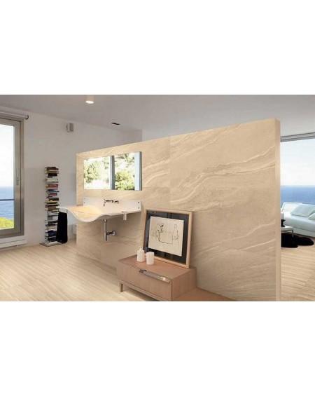 Dlažba obklad koupelna imitující mramor Zero design Thar Beige Nat. Rett. Výrobce Provenza