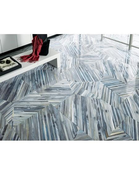 Dlažba obklad imitace dřeva Kauri Tasman Tech 60x120 cm Rtt. Lappato výrobce La Fabbrica kalibrováno dlažba lesklá modrá