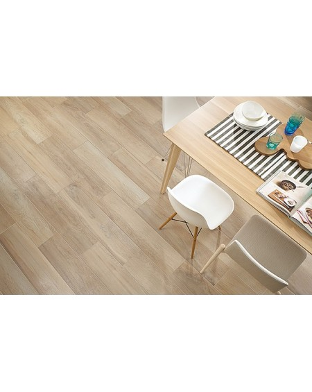 Dlažba imitace dřeva Maloe bianco 16x65,5 cm Rtt. Kalibrováno výrobce Paradyz