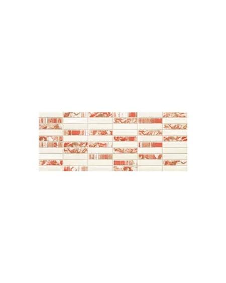 Obklad matný Decoro mosaico bianco / rosso výrobce Gardenia Orchidea / m2