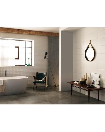 Koupelna bianco imitující pískovec dlažba imitující beton Brickyard výrobce Gardenia Orchidea
