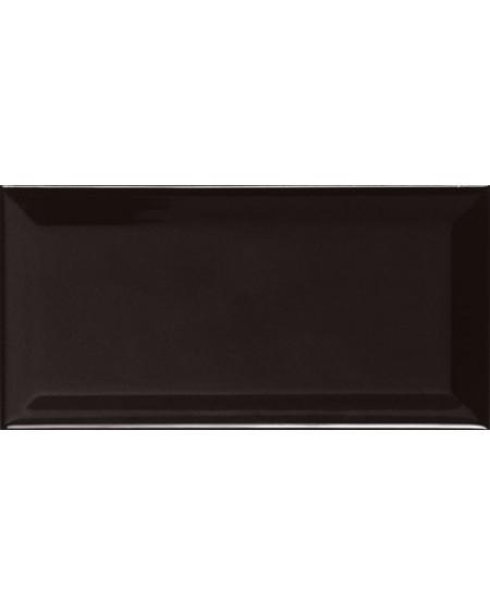 Obklad Metro diamante biselado negro 10x20 cm výrobce Ape retro zkosené hrany lesk