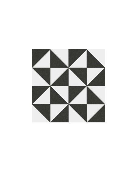 Dlažba se vzorem Art retro serie 1900 Terrades Grafito Basalto 20x20 cm výrobce Vives černobílá matná 1/m2