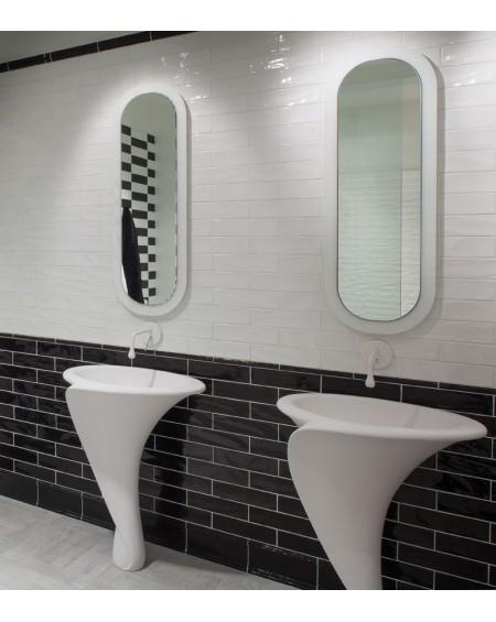 Koupelnové obklady retro 7,5x30 cm New Yorker brilo night + white výrobce Settecento