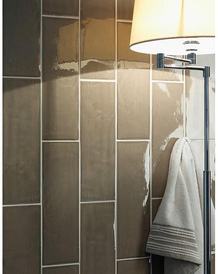 Koupelnové obklady retro 15x45 cm Chelsea brilo taupe výrobce Settecento lesk