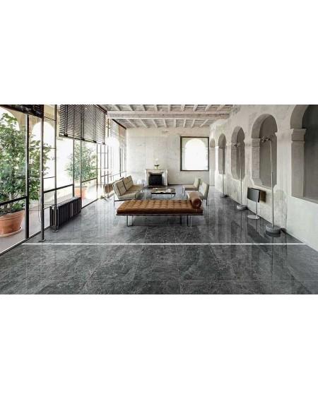 Dlažba obklad imitující mramor Anima Grey St. Laurent 74x148,5 cm výrobce Caesar