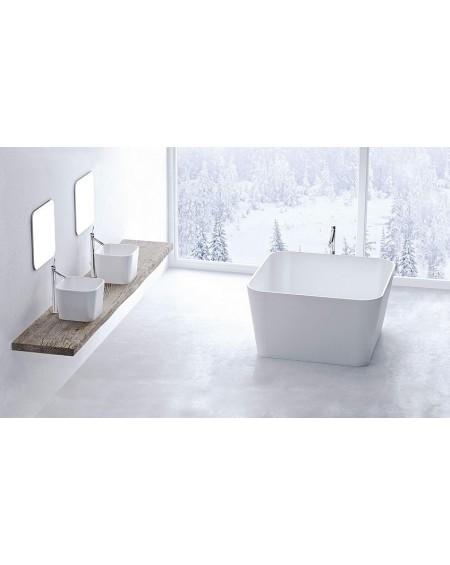 Koupelnový set litý mramor Balia konglomerát mramoru Durocoat ® super white vana z litý kamen