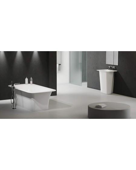 Koupelnový set Tytan konglomerát mramoru Durocoat ® super white mate / brilo