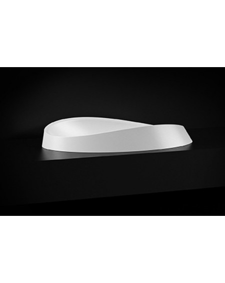 Umyvadlo na desku Alice III. 60x37x16cm bílý mramor lesk Durocoat ® super white mate / brilo
