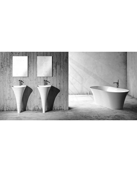 Koupelnový set Cascade konglomerát mramoru Durocoat ® super white mate / brilo
