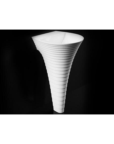 Umyvadlo volně stojící sloupové Cascada M.85cm height 48x48x14cm Durocoat ® super white mat.