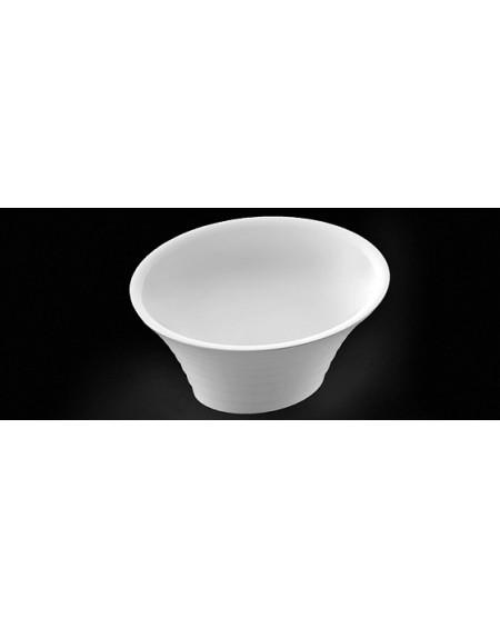 Umyvadlo na desku litý mramor Cascade oválné 44x37x22cm materiál Durocoat® super white mat